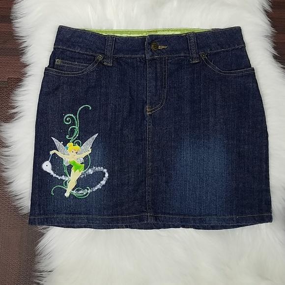 Disney Dresses & Skirts - Cute Disney Tinkerbell Denim Jean Skirt